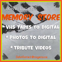 TRANSFER  PHOTOS / VCR TAPES TO DIGITAL