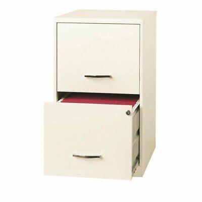 Scranton Co 18 Deep 2 Drawer File Cabinet In Pearl White