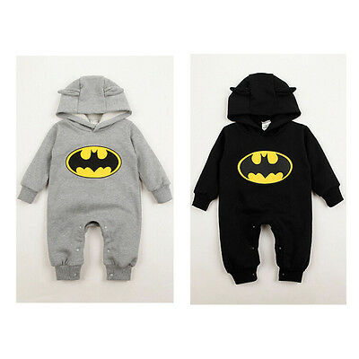 New Newborn Boy Clothes Baby Batman Hoodies Infant Romper Clothes 3-24Months