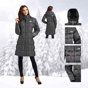 North face parka in grey - women