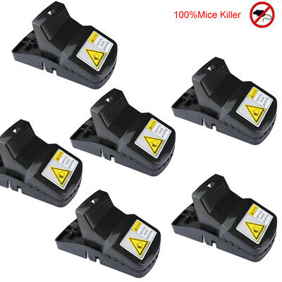 6Pack Mouse/Rats Trap Mice Catcher Best Snap That Works Bait Station 100%