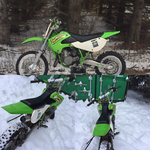 It's a 2008 kx 65 it's green and white