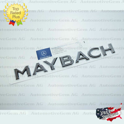 OEM Genuine Maybach Trunk Letter Emblem Badge Rear Luggage Lid Mercedes AMG S650