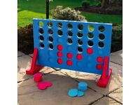 Brand New Giant 4-in-a-row game. Includes lightweight foam frame and 42 discs