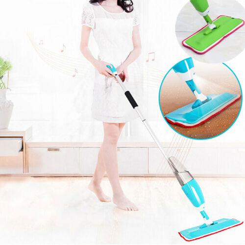 Spray Mop Sprühmop Set Bodenwischer Wischmop Wischer Wassertank Mopp Blau/Grün A