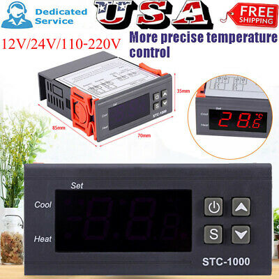 1224220v Stc-1000 Digital Temperature Controller Temp Sensor Thermostat Contro
