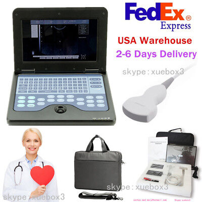 Cms600p2portable Laptop Machine Digital Ultrasound Scanner 3.5 Convex Probece