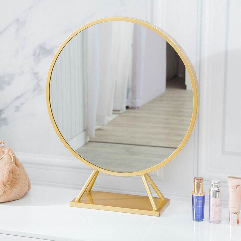 GURUN Vanity Free Standing Metal Makeup Mirror on Dreesing t
