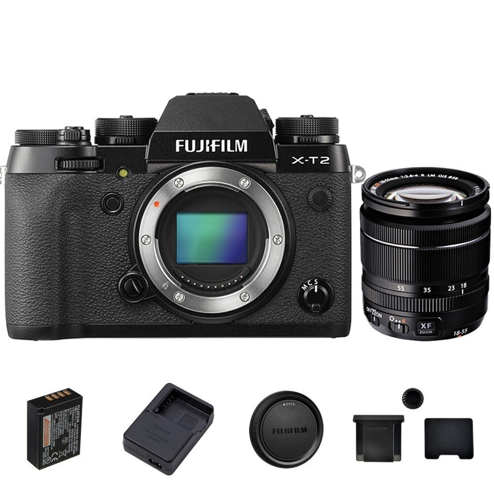 Fujifilm X-T10 Mirrorless Digital Camera Body, with XF 18-55