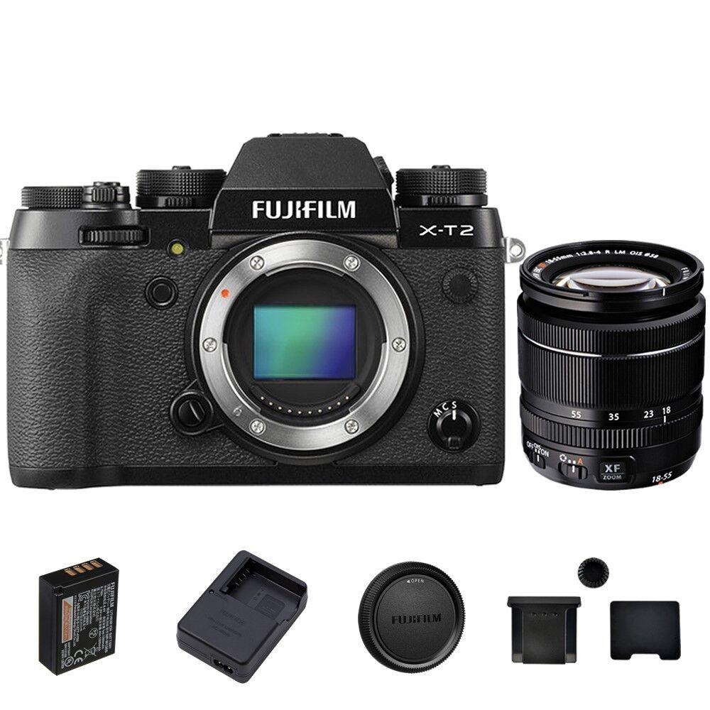 Fujifilm X-T10 Mirrorless Digital Camera Body, with XF 18-55