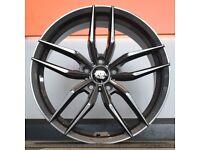"""18"""" AVA Chicago alloy wheels 5x112 will fit Golf MK5, MK6, MK7, Jetta, Passat, Caddy Etc"""