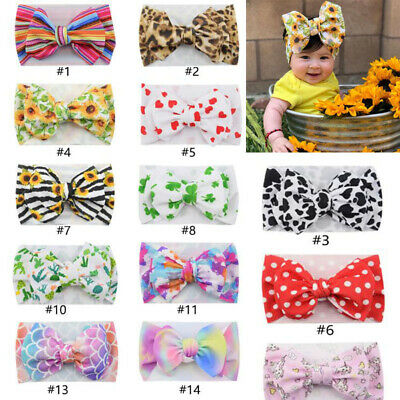 Cute Baby Hair Accessories Big Bow Headband Headwrap Turban for Girl Baby Infant