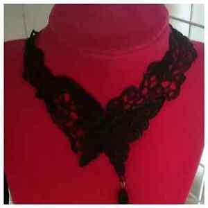 Victorian Butterfly Goth Choker Collar