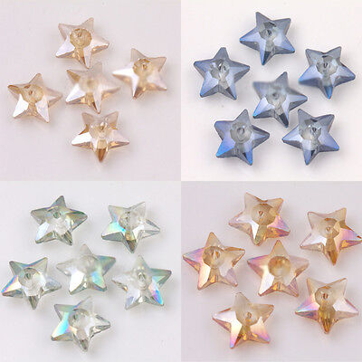 10 20Pcs Czech Crystal Glass Star Shape Loose Spacer Beads Jewelry Making 10X4mm