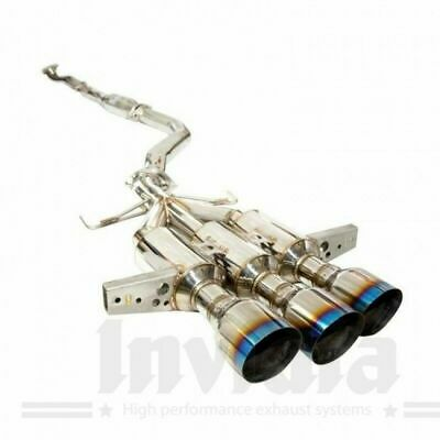 Invidia Gemini R400 Exhaust System FK8 Civic Type-R Turbo Triple Burnt Tips