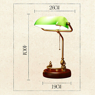 US Traditional Classic  Antique Wood Lamps Desk Office Table Lamps Brass Style ()