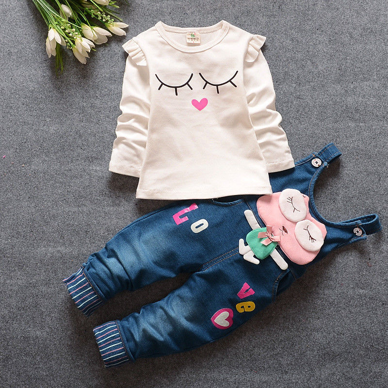 Baby Girls Cartoon Outfits Toddler Clothing Sets For Kids Gi
