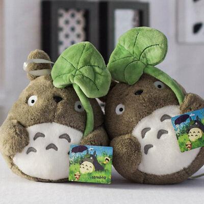 Xmas Stuffed Soft Ghibli My Neighbor Totoro Plush Doll Gift Bed Cute Taking Leaf ()