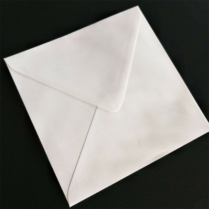 120mm 130mm 140mm 150mm 160mm 170mm White Square Envelopes FREE SHIPPPING - 160 * 160mm