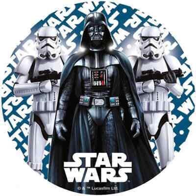 """STAR WARS - EDIBLE 7.5"""" ROUND CAKE TOPPER ICING SHEET #2"""