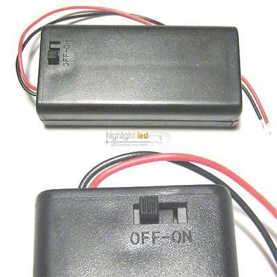 Batteriehalter geschlossen mit Schalter - ideal für LED als Batteriefach