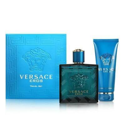 Versace Eros Eau de Toilette EDT 100ml Spray Gift Set for Him New Boxed