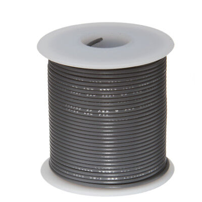 30 Awg Gauge Stranded Hook Up Wire Gray 100 Ft 0.0100 Ptfe 600 Volts