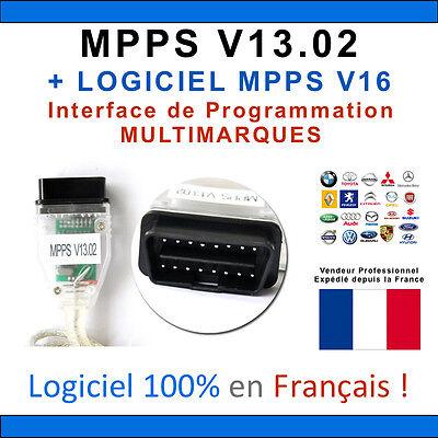 CABLE INTERFACE MPPS V13.02 OBDII + ECUSAFE + ECM TITANIUM + VOLTA