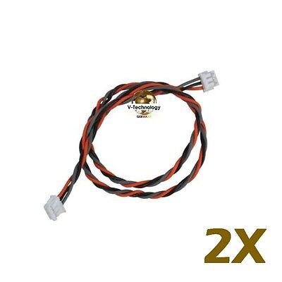 2x Empfänger Spektrum Satellit Kabel 180mm 18cm OrangeRx JR Propo K-262 m2