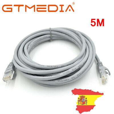 GTmedia Cable Red Ethernet 5m metros RJ45 UTP CAT5 Gigabit 1000mbps 28AWG...