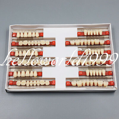 3 Set Of 84 Denture Dental Acrylic Resin Teeth Vita Color A2 Upperlower Shade