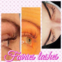 Lash extensions in harbour landing