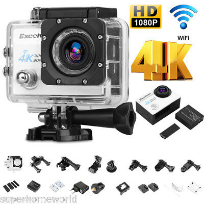 16MP 4K 1080P WiFi HD Action Helmet Camera Video DV Sports Bike 30m Waterproof
