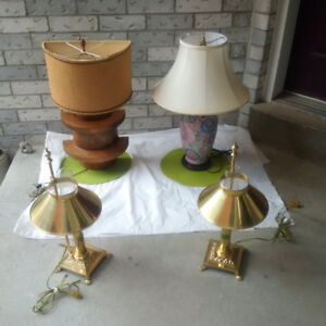 LAMP SETS-- AND-- SINGLE LAMPS ** SEE EACH PRICE ** -