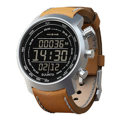 Suunto Elementum Terra n/Brown Leather Premium ABC Watch SS018733000--New in Box