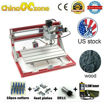 Cnc Machine 3018 Router Engraving 5.5w Laser Pcb Wood Carving Diy Milling Kits