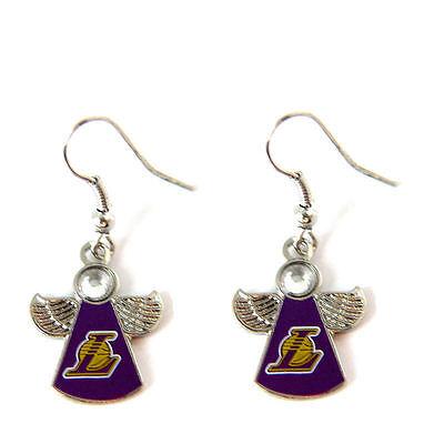 LA Los Angeles Lakers crystal angel earring dangle jewelry