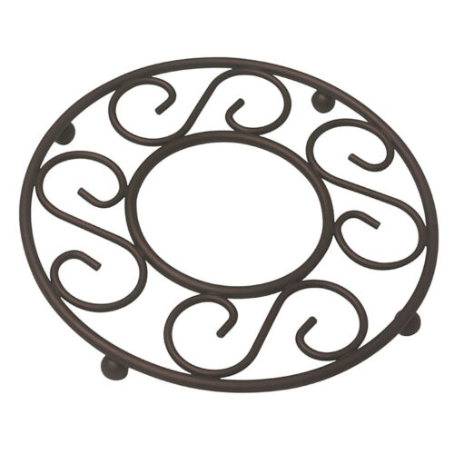 Home Basics Scroll Collection Bronze Wire Table Trivet 8″ x 8″ x 0.75″ Dinnerware & Serveware
