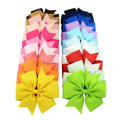20 Colors Baby Girls Kids 3  Grosgrain Ribbon Boutique Hair Bows Alligator Clips
