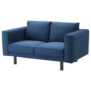 Blue sofa covers for IKEA Norsborg love seat, causeuse 2 places