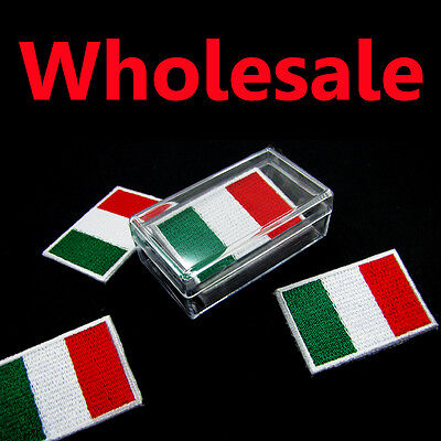 1 Box = 5 Pcs Italy Patch Flag Embroidered Italian Iron On Patch National Emblem