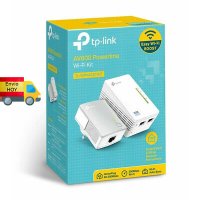 KIT EXTENSOR WIFI RED PLC POWERLINE TP-LINK RJ45 ETHERNET y WIFI KIT...