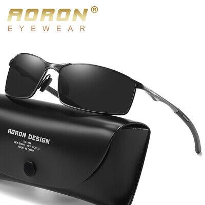 Herren HD Sonnenbrille Polarisiert 100% UV 400 Schutz Fahren Sport Pilotenbrille