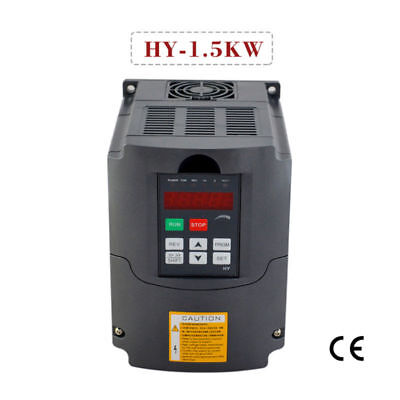 Vfd Variable Frequency Drive Inverter Cnc 1.5kw 110v Huan Yang Brand 2hp 7a
