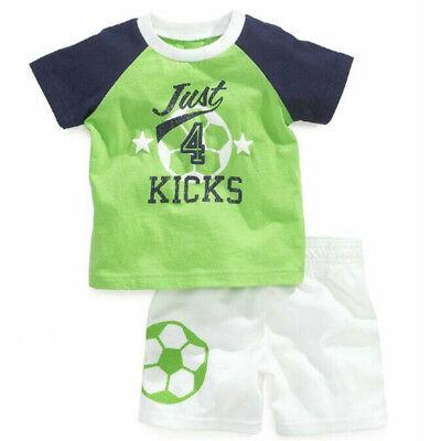 Football Baby Kids Toddler Boys Sleepwear Short Sleeve Soccer Pajamas Set - Football Baby