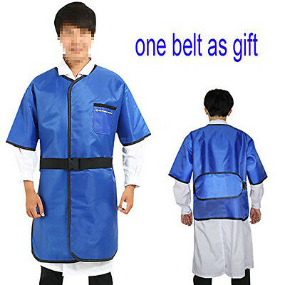 0.35mmpb X-ray Protection Lead Apron Shield Vest Half Sleeves With Belt L Size
