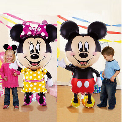"44"" Standing Mickey Mouse Birthday Party Balloons Balloon Minnie boy baby shower"