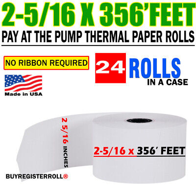 Pay At Pump Thermal Paper 24 Rolls 2 516 X 356 Gas Station Premuim Quality