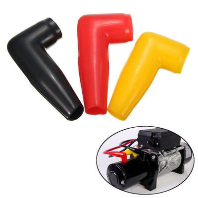1pc Electric Guard Winch Motor Cable Terminal Boot PVC Cover 3 Colors Electric Winch Motors