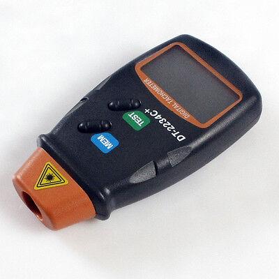 Digital Laser Tachometer LCD Tacho Foto Berührungsloser Drehzahlmesser RPM 9852